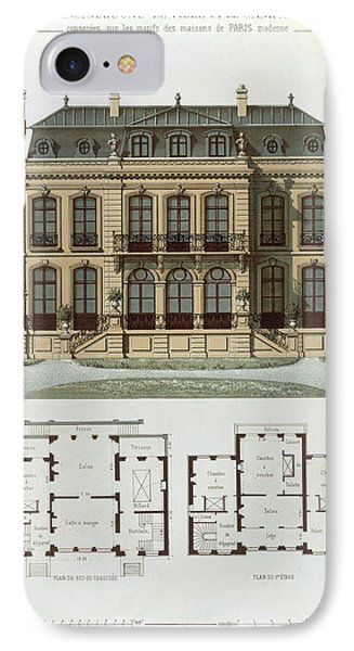 Parisian Suburban House And Plans IPhone Case by Leon Isabey
