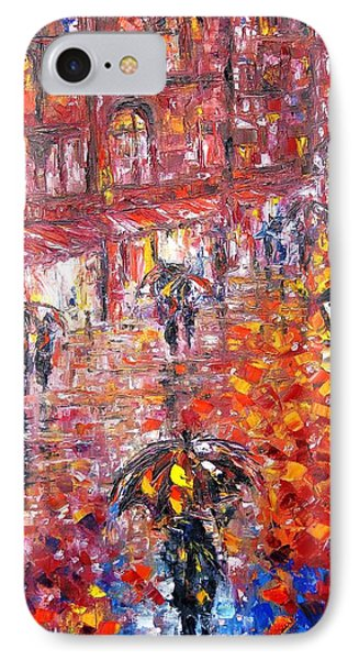 Parisian Umbrellas IPhone Case by Helen Kagan