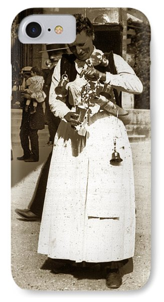 IPhone Case featuring the photograph Parisian Woman Lady Paris France 1900 Historical Photo by California Views Mr Pat Hathaway Archives