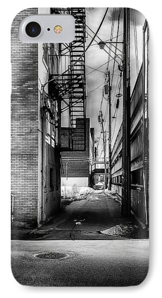 Park Alley Sunset Phone Case by Bob Orsillo
