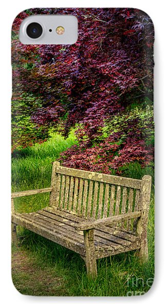 Park Bench IPhone Case by Adrian Evans