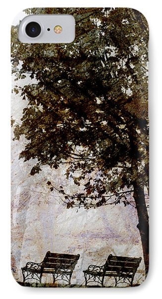 Park Benches IPhone Case by Carol Leigh