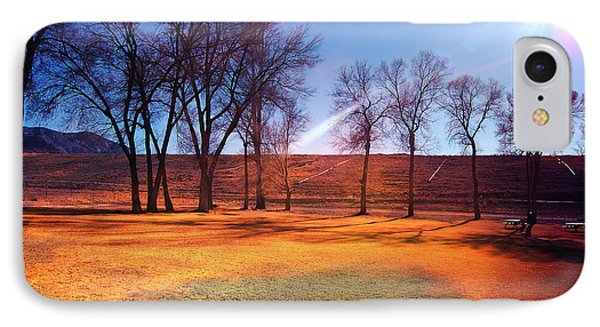 Park In Mcgill Near Ely Nv In The Evening Hours IPhone Case by Gunter Nezhoda