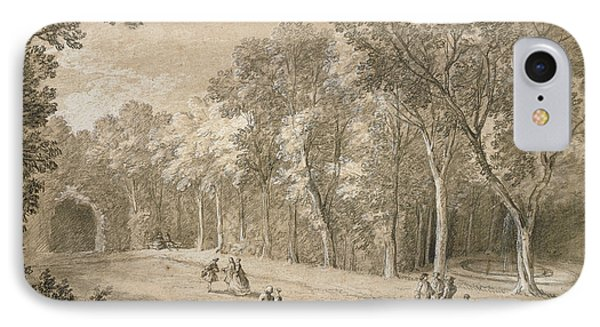 Park Scene Jean-baptiste Oudry, French IPhone Case