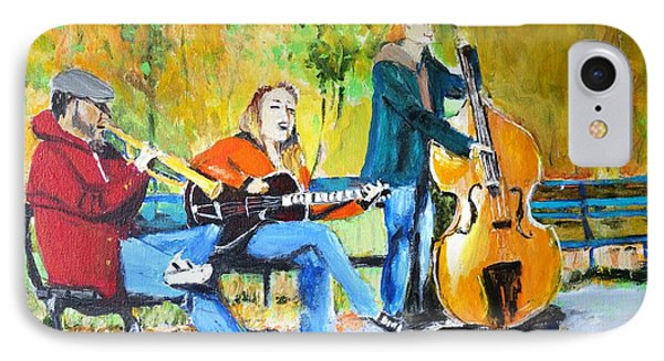 IPhone Case featuring the painting Park Serenade by Judy Kay