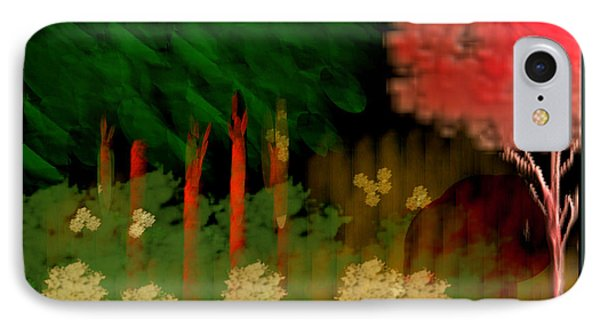 IPhone Case featuring the digital art Park View by Asok Mukhopadhyay