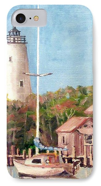 Parked By Ocracoke IPhone Case by Jim Phillips