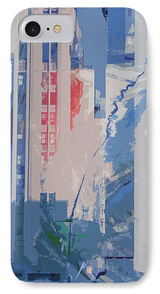 IPhone Case featuring the mixed media Parking Lot With Tree Spirit Escaping by John Fish