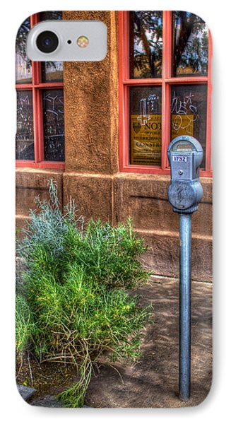 IPhone Case featuring the photograph Parking Meter On Sidewalk by Dave Garner