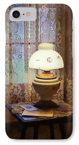 Parlor With Hurricane Lamp IPhone Case