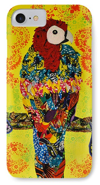 IPhone Case featuring the tapestry - textile Parrot Oshun by Apanaki Temitayo M
