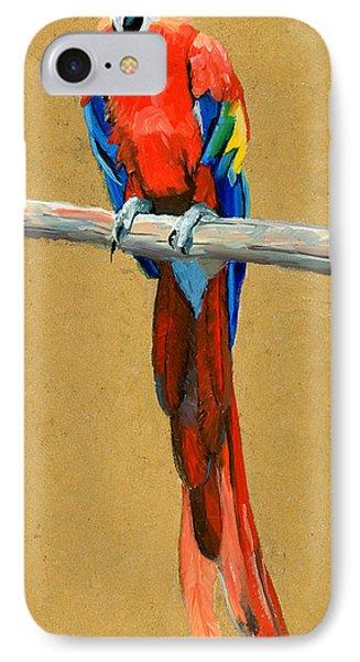 Parrot Perch IPhone Case by Alice Leggett