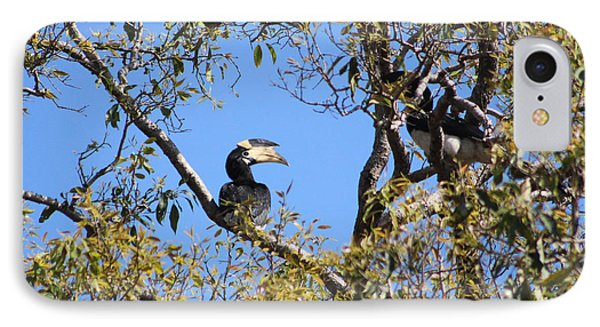 Hornbills With A Black Eye Phone Case by Four Hands Art