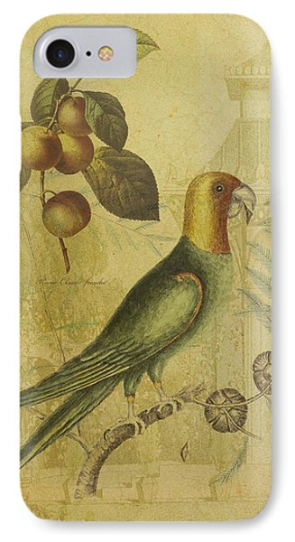 Parrot With Plums Phone Case by Sarah Vernon