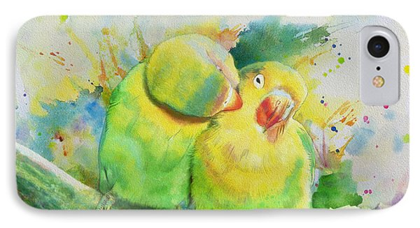 Parakeet iPhone 7 Case - Parrots by Catf