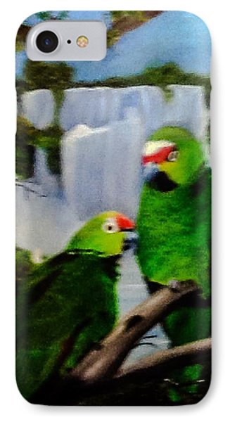 Parrots IPhone Case by Catherine Swerediuk