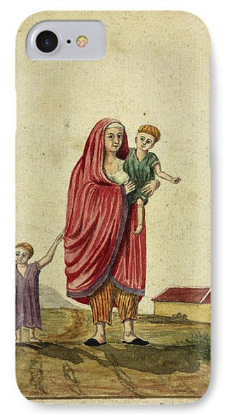 Parsee Woman And Child IPhone Case by British Library