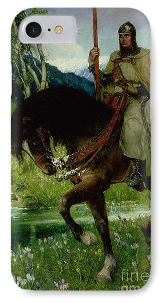 Parsifal In Quest Of The Holy Grail Phone Case by Ferdinand Leeke
