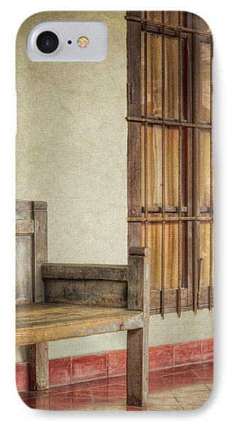 Part Of A Bench Phone Case by Joan Carroll