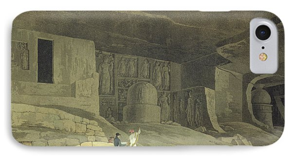 Part Of The Kanaree Caves, Salsette IPhone Case by Thomas & William Daniell