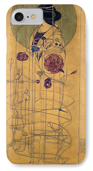 Part Seen, Imagined Part, 1896 IPhone Case by Charles Rennie Mackintosh