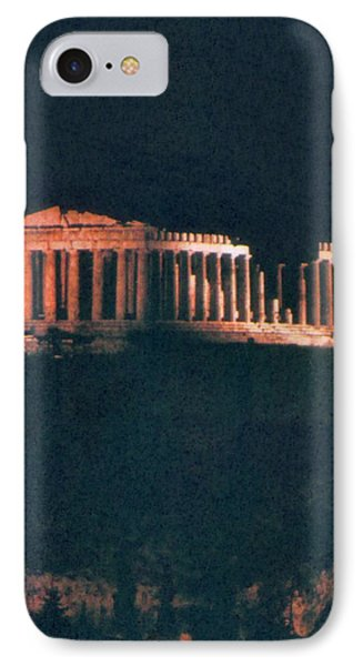 Parthenon At Night IPhone Case by Troy Caperton