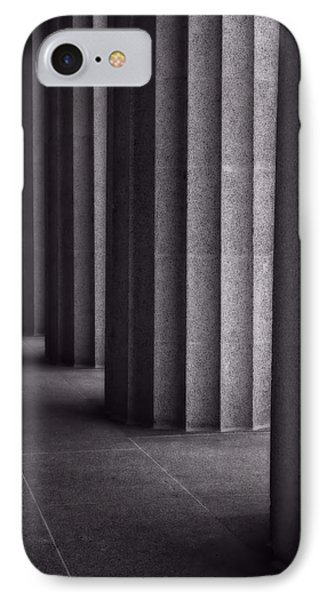 Black And White Columns IPhone Case by Dan Sproul