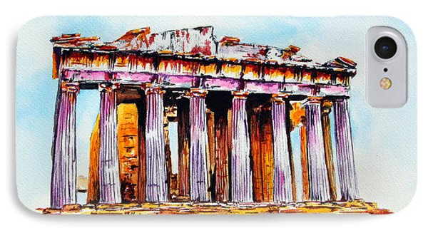 IPhone Case featuring the painting Parthenon by Maria Barry