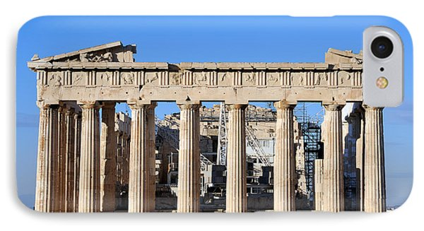 Parthenon Temple IPhone Case by George Atsametakis