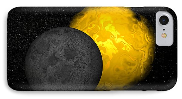 Partial Eclipse Of The Sun IPhone Case by Elena Duvernay