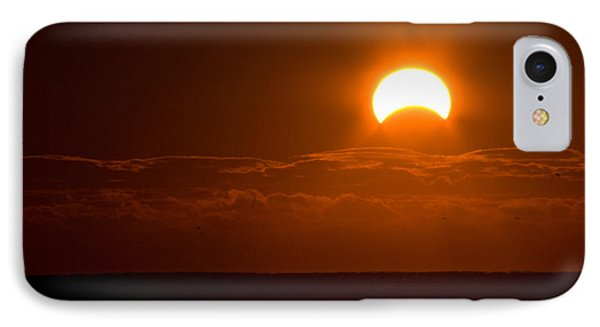 Partial  Eclipse Of The Sun IPhone Case by Greg Graham