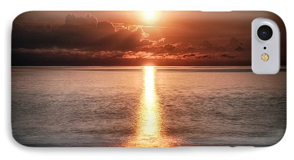Parting Of The Atlantic Ocean In Hdr IPhone Case by Michael White