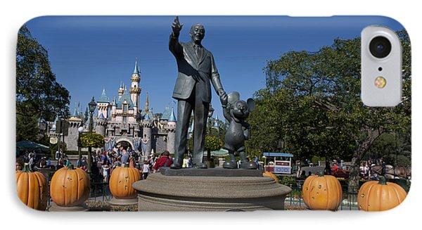 Partners Statue Disneyland Halloween IPhone Case by Jason O Watson