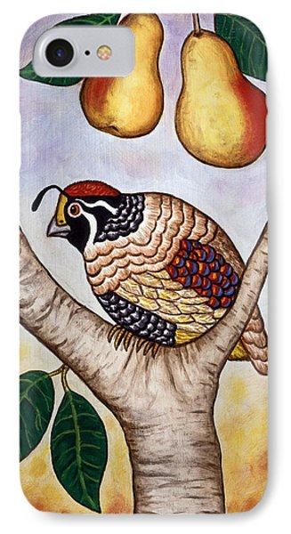 Partridge In A Pear Tree Phone Case by Linda Mears