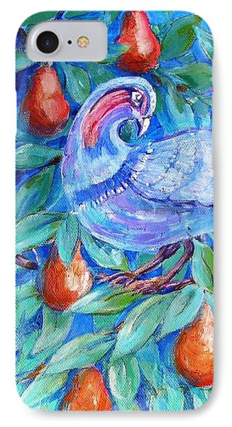Partridge In A Pear Tree  Phone Case by Trudi Doyle