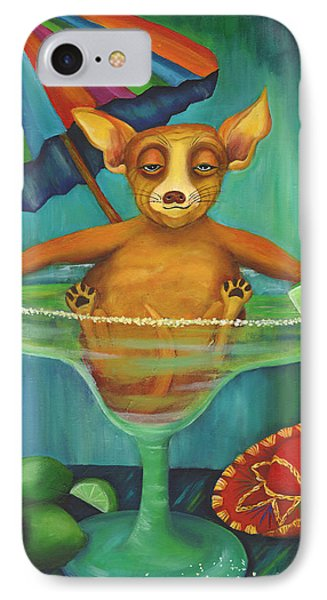 Party Animal  Ay Chihuahua IPhone Case by Debbie McCulley