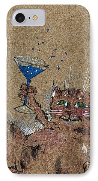 Party Cat Phone Case by Angel  Tarantella
