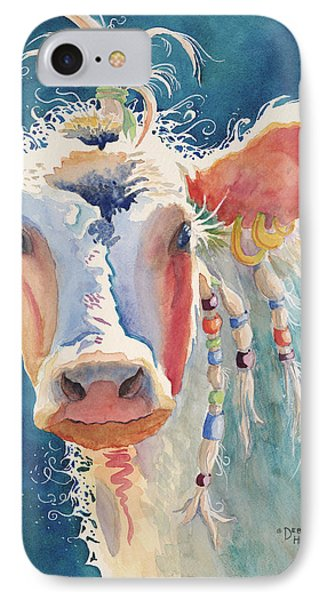Party Gal - Cow IPhone Case by Deb  Harclerode