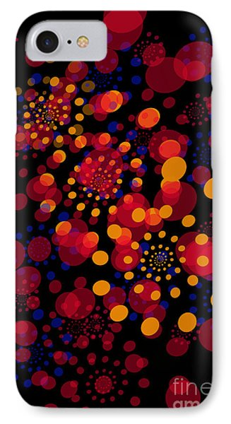 Party Time Abstract Painting IPhone Case by Claudia Ellis