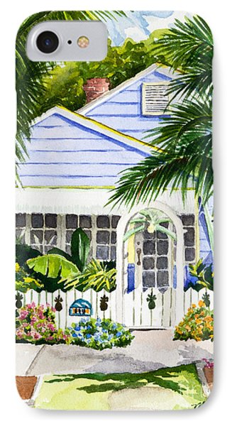 Pass-a-grille Cottage Watercolor IPhone Case by Michelle Wiarda