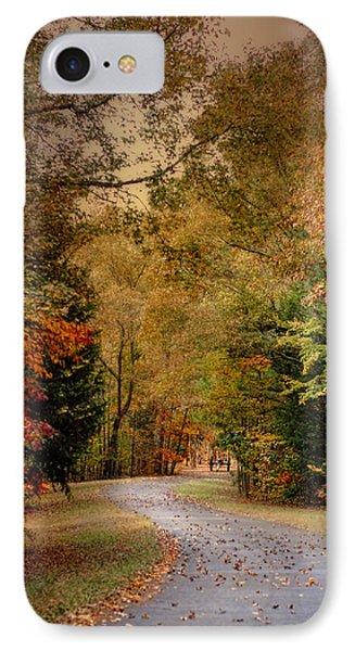 Passage Of Time - Autumn Landscape IPhone Case by Jai Johnson