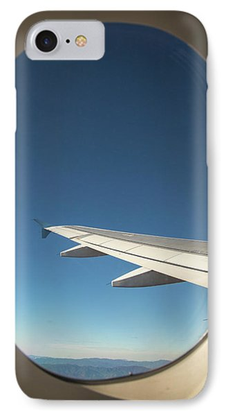 Passenger Airplane In Flight IPhone Case by Jim West