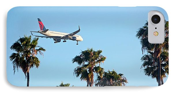 Passenger Jet Airliner Landing IPhone Case by Jim West