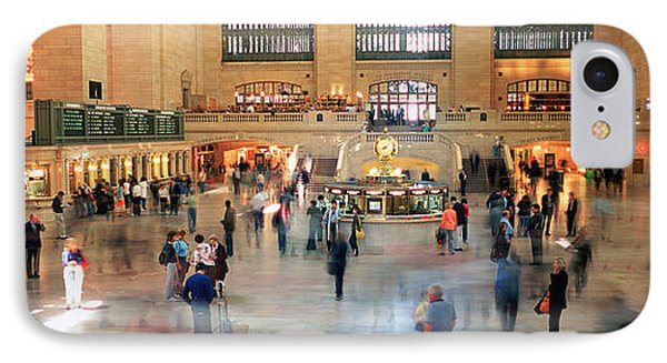 Passengers At A Railroad Station, Grand IPhone Case by Panoramic Images