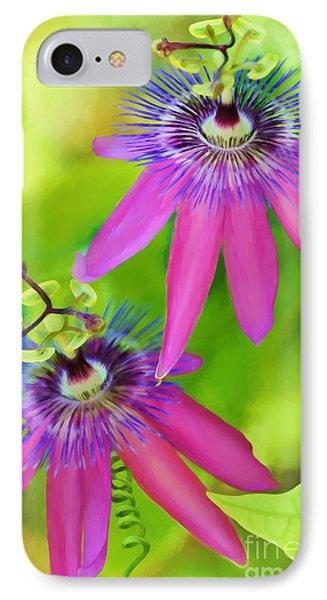 Passiflora Piresii Vine  - Passiflora Twins Phone Case by Michelle Wiarda