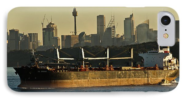 IPhone 7 Case featuring the photograph Passing Sydney In The Sunset by Miroslava Jurcik