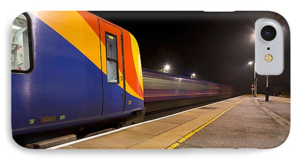 Passing Trains In The Night  IPhone Case by Rob Hawkins