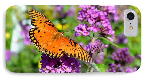 Passion Butterfly IPhone Case by Deena Stoddard
