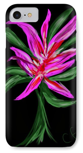 IPhone Case featuring the digital art Passion Flower by Christine Fournier