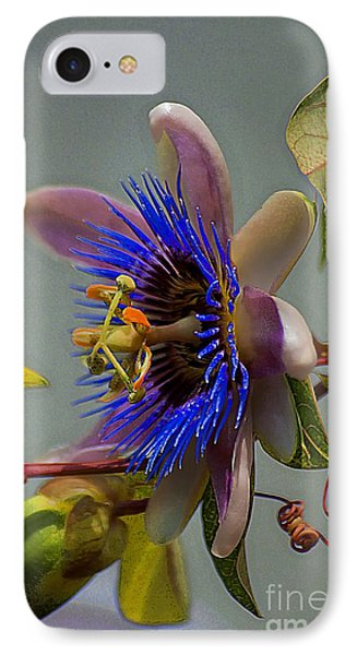 Passion Flower IPhone Case by John  Kolenberg